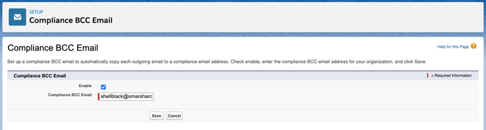 Compliance BCC Email